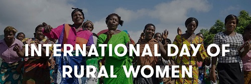 International Day of Rural Women >> 15 October