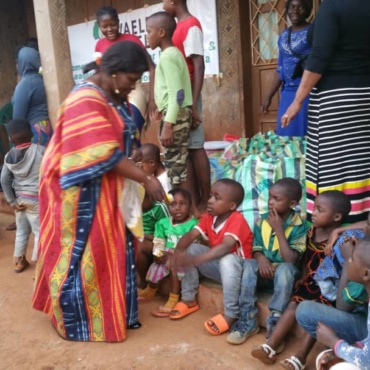 WAELE AFRICA Foundation assisted 30 displaced families in Bafoussam West Region of Cameroon during last week ethnic massacre with food items